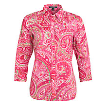 Buy Lauren by Ralph Lauren Paisley Cotton Sateen Blouse Online at johnlewis.com