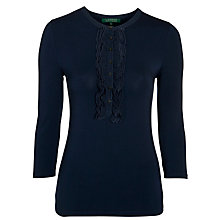 Buy Lauren by Ralph Lauren Cecia Top, Capri Navy Online at johnlewis.com