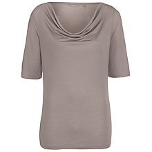Buy Sandwich Cowl Neck Jersey Top, Driftwood Online at johnlewis.com