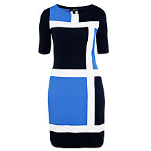 Buy Lauren Ralph Lauren Melliana Dress, Winter White/Light Navy Online at johnlewis.com