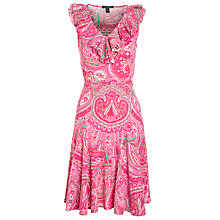 Buy Lauren by Ralph Lauren Fedella Dress, Pink Online at johnlewis.com