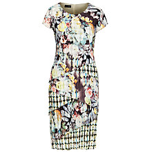 Buy Gerry Weber Printed Crinkle Dress, Blue Online at johnlewis.com