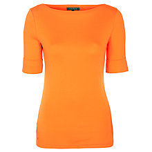 Buy Lauren by Ralph Lauren Benny Knit Top, Arena Orange Online at johnlewis.com