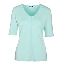 Buy Gerry Weber Pleated Neck T-Shirt Online at johnlewis.com