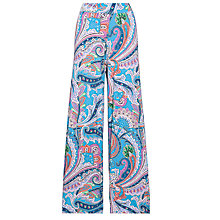 Buy Lauren by Ralph Lauren Extra Wide Leg Trouser, Blue Multi Online at johnlewis.com