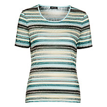 Buy Gerry Weber Blue Striped T-Shirt, Blue Online at johnlewis.com