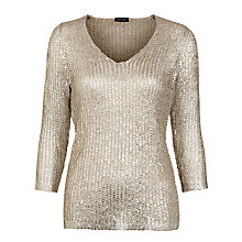 Buy Gerry Weber Metallic Ribbon knit, Gold Online at johnlewis.com