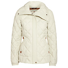 Buy Aigle Waterproof Short Quilted Jacket, Beige/Ivory Online at johnlewis.com