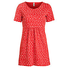 Buy People Tree Bella Tunic Top, Red Online at johnlewis.com