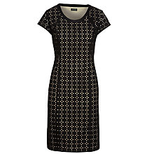 Buy Gerry Weber Broderie Dress, Black Online at johnlewis.com
