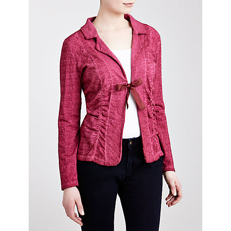 Buy Avoca Embossed Tie Top, Pink Online at johnlewis.com