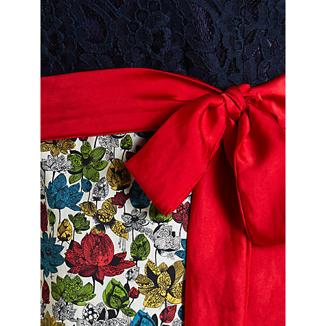 Buy Avoca Anthology Sleeveless Contrast Lace Top Dress, Red/Blue Online at johnlewis.com