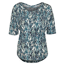 Buy Sandwich Jersey Print 3/4 Top, Dark Jade Online at johnlewis.com