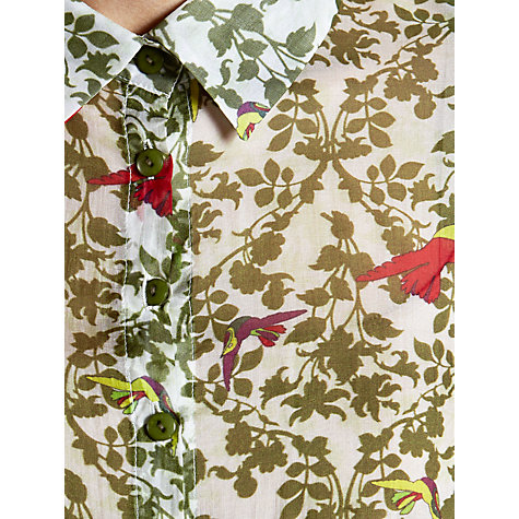 Buy Avoca Anthology Bird Print Shirt, Palm Online at johnlewis.com