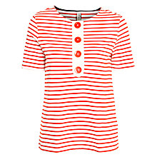 Buy People Tree Freya Button Top, Red Online at johnlewis.com