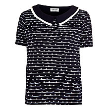 Buy People Tree Erin Top, Navy Online at johnlewis.com