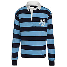 Buy Westville House School Boys' Rugby Games Top, Navy/Sky Online at johnlewis.com