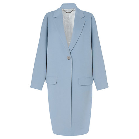 Buy Jigsaw Melton Oversized Coat, Blue Online at johnlewis.com