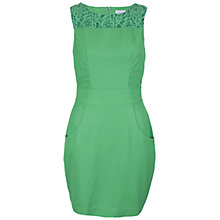 Buy Wolf & Whistle Lace Panel Dress, Green Online at johnlewis.com