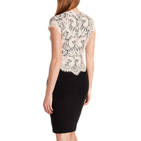 Buy Ted Baker Lace Bodice Dress, Nude Pink Online at johnlewis.com