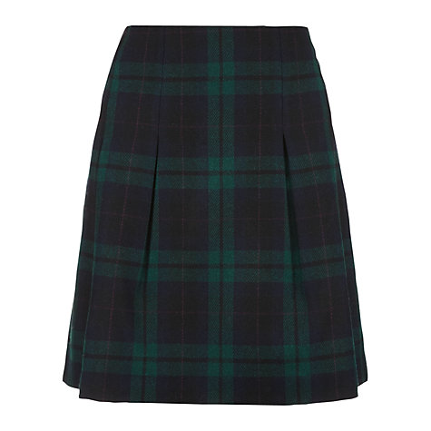Buy Jigsaw Borders Check Skirt, Navy Online at johnlewis.com