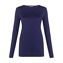 Buy Jigsaw Pima Cotton Long Sleeve T-Shirt, Aqua Online at johnlewis.com