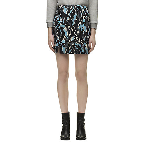 Buy Whistles Clara Ripple Print Skirt, Blue/Multi Online at johnlewis.com