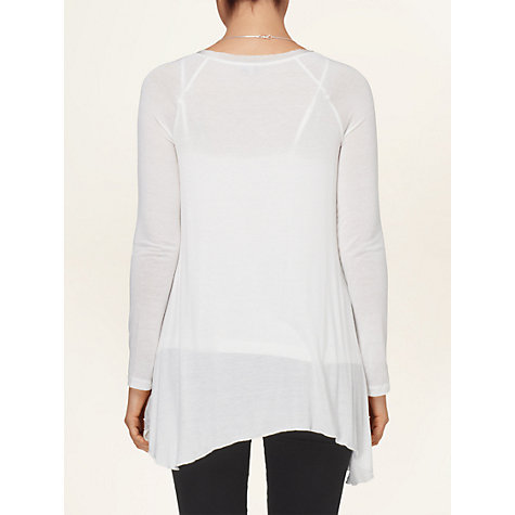 Buy Phase Eight Silk Jersey Panelled Top, Ivory Online at johnlewis.com