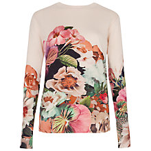 Buy Ted Baker Tangled Floral Print Jumper, Natural Online at johnlewis.com