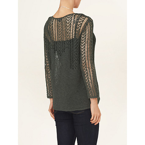 Buy Phase Eight Sammy Stitch Knitted Jumper, Khaki Online at johnlewis.com