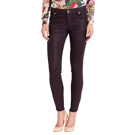 Buy Ted Baker Anna Waxed Finish Skinny Jeans Online at johnlewis.com