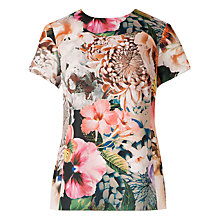 Buy Ted Baker Raelyn Tangled Floral Top, Ivory Online at johnlewis.com