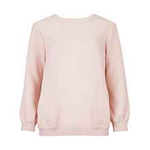 Buy Ted Baker Waffle Top, Nude Pink Online at johnlewis.com