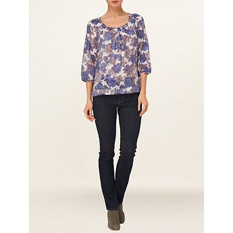 Buy Phase Eight Sophie Print Blouse, Blue/Stone Online at johnlewis.com