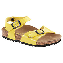 Buy Birkenstock Sun Patent Sandals, Yellow Online at johnlewis.com