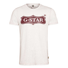 Buy G-Star Raw Logo T-Shirt, Porcelain Heather Online at johnlewis.com