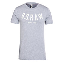 Buy G-Star Raw Kain Logo T-Shirt, Grey Heather Online at johnlewis.com