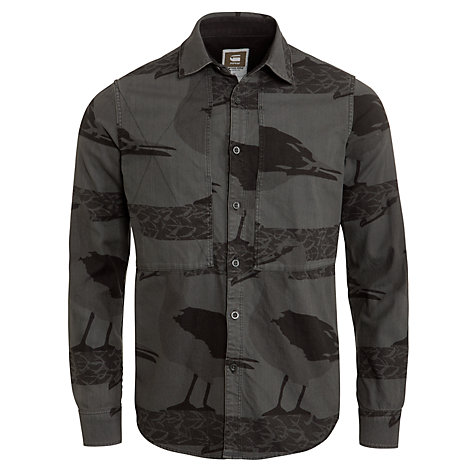 Buy G-Star Raw Islander Bird Print Long Sleeve Shirt, Night Online at johnlewis.com