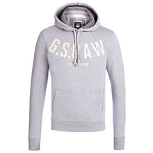 Buy G-Star Raw Kain Hooded Sweatshirt, Grey Heather Online at johnlewis.com