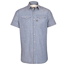 Buy G-Star Raw Tacoma Denim Short Sleeve Shirt, Rinsed Online at johnlewis.com