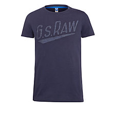 Buy G-Star Raw Joakim Logo T-Shirt, Tonel Online at johnlewis.com