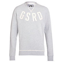 Buy G-Star Raw Jarrad Jersey Sweatshirt, Grey Heather Online at johnlewis.com
