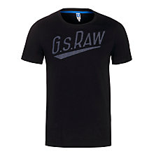 Buy G-Star Raw Joakim Logo T-Shirt, Black Online at johnlewis.com