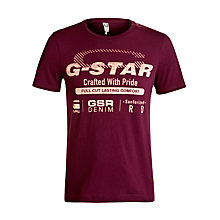 Buy G-Star Raw Printed Pride Logo T-Shirt, Blackcurrant Online at johnlewis.com