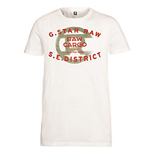 Buy G-Star Raw Order Logo T-Shirt, Milk Online at johnlewis.com
