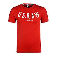 Buy G-Star Raw Kain Logo T-Shirt, Antic Red Online at johnlewis.com