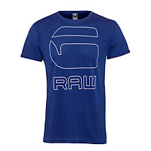 Buy G-Star Raw Manor Graphic Logo T-Shirt, Electric Blue Online at johnlewis.com