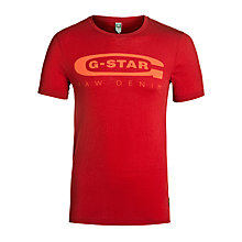 Buy G-Star Raw Logo T-Shirt, Harvard Red Online at johnlewis.com