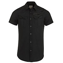 Buy G-Star Raw Armoured Short Sleeve Shirt, Black Online at johnlewis.com