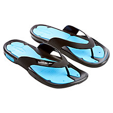 Buy Speedo Pool Surfer Thong Sandals, Black/Blue Online at johnlewis.com